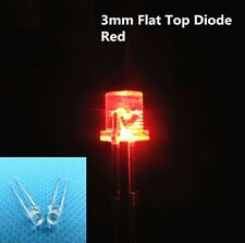500PCS F3 3MM FLAT TOP LED RED SUPER BRIGHT Wide Angle Leds Lamps NEW