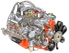 1970 CHEVROLET CHEVY ENGINE 454 V8 LS6 CUTAWAY POSTER PRINT 28x36 HI RES