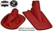 DARK RED LEATHER FOR BMW Z4 E85 E86 MANUAL COUPE ROADSTER GEAR+HANDBRAKE GAITER