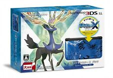 Nintendo 3DS LL XL Pokemon X Pack Limited Xerneas Yveltal Blue  Japan EMS