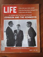 Life Magazine Johnson and the Kennedys Kenneth ODonnell August 1970