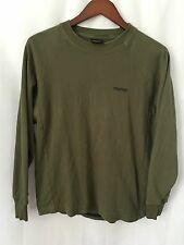 VTG Nautica Competition Mens Thermal Pullover Waffle L/S Olive Crewneck Small