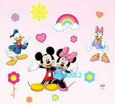 Disney Mickey Minnie Mouse Daisy Donald Duck Home Decor Wall Decals Stickers Art
