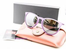 RAY-BAN RB 4171 602/588 Matte Violet Gray Flash 54MM ERIKA Sunglasses NWT AUTH
