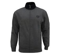 SERGIO TACCHINI MEN'S CHANDLER CHARCOAL GREY TRACKSUIT TOP TRACK JACKET SMALL