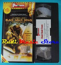 VHS film cartonata BLACK HAWK DOWN 2001 Mc Gregor Hartnet  PANORAMA (F92) no dvd