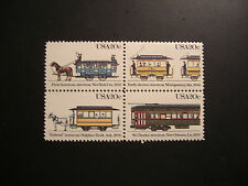 United States Scott 2059-2062. Streetcars block