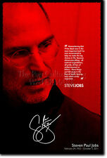 STEVE JOBS PHOTO POSTER PRINT APPLE 12x8 FREE P&P