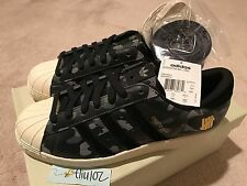 ADIDAS x UNDEFEATED x A BATHING APE BAPE SUPERSTAR 80v Black Camo Shoes 8 S74774