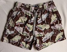 Vilebrequin XL Retro Vintage Classic Cars Tropical Flower Swim Trunks Shorts