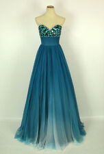 New Genuine Jovani 7229 TEAL Wedding Bridal Prom Pageant Women Gown 2