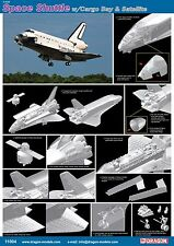 Dragon 1/144th Scale Space Shuttle w/Cargo Bay & Satellite Kit No. 11004