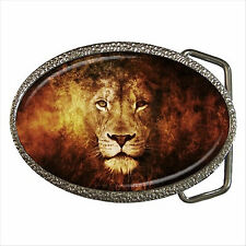 NEW* HOT LION Quality Chrome Belt Buckle Gift