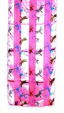 SCARF Multi Colors On Rich Pink Background Petite Design FLYING DRAGONFLIES