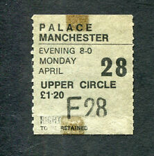 Genesis 1975 concert ticket stub Manchester The Lamb Lies Down On Broadway Tour