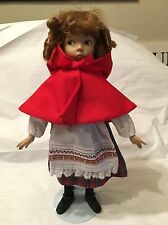 Knowles Little Red Riding Hood Porcelain Doll By Dianna Effner-With Stand