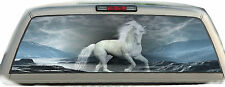 Horse Unicorn White #01 Rear Window Vehicle Graphic Tint Truck Stickers Decals