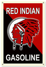 Brand New  Red Indian Gasoline Service Station Oil And Gas Metal Sign