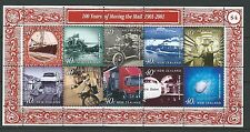 NEW ZEALAND 2001 MOVING THE MAIL  MINIATURE SHEET FINE USED