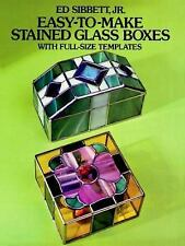 Dover Stained Glass Instruction: Easy-to-Make Stained Glass Boxes : With Full...