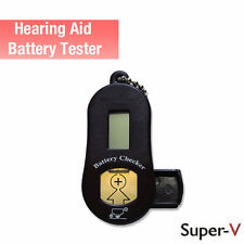 New, Digital Hearing Aid Battery Tester w/ 2 Cell Battery Compartment