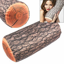 "Cylindrical Wood Logs Shape Pillow Home Car Cushion Decor New Novelty 6.3""*15"""