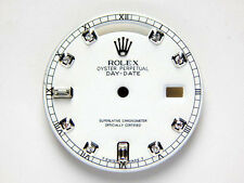 Rolex Mens Day- Date White Gold - White Color Dial with 8+2 Diamond
