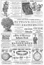 Victorian Adverts; Florists, School Outfitters, Watches, Silver - Old Print 1887