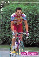CYCLISME carte cycliste GREGORY LAPALUD équipe JEAN DELATOUR