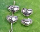 50pcs tibetan silver Heart Shaped loose Spacer Beads DIY Findings