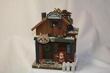 Vintage Wood Log Christmas SANTA's WORKSHOP Village Bldg LIGHT Decoration