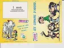 FRANQUIN. Carte calendrier Gaston 1996. Les copains d'abord
