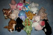 WEBKINZ PLUSH LOT OF 15 - USED, NO CODES dachshund bush baby strawberry leopard
