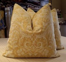 "MARIANO FORTUNY YELLOW & WHITE TEXTURE ""DE'MEDICI"" ITALIAN CUSTOM PILLOWS!!"