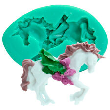 Carousel Horse Silicone Fondant Cake Mold Chocolate Mould Baking Tool Decor DIY