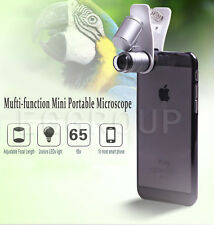 Universal 65X Optical Zoom LED Camera Microscope Lens+Clip For iPhone 6 6S Plus