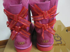 UGG Australia Youth/Girls US 3 BaileyBow Bloom  Boots PEONY PINK 100%Authentic!