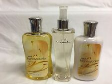 Bath & Body Works WILD HONEYSUCKLE Lotion, Shower Gel & Spray Mist Set of 3!