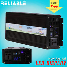 2500W Pure Sine Wave Inverter Power Inverter 12/24/48V to 120/220V LED display