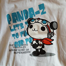 Baleno Panda-Z print design white t-shirt size 8/M Japanese cute style fashion