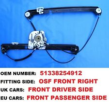00-06 BMW E53 X5 SUV RIGHT HAND DRIVE CAR FRONT DRIVERS  SIDE WINDOW REGULATOR