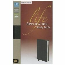NIV Life Application Study Bible by Zondervan Staff (2013, Bonded Leather,...