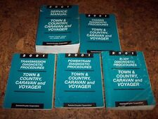 2001 Dodge Caravan Shop Service Repair Manual Set SE Sport 2.4L 3.3L V6