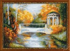"NIP Riolis 'Autumn Park' Cross Stitch Kit 15 3/4"" X 11 3/4"""