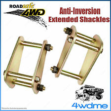 """Pair Rear 2"""" 50mm Nissan Patrol GQ Ute Tray Back 4WD Roadsafe Extended Shackles"""