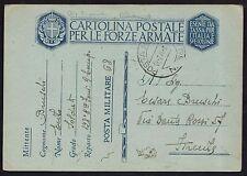 POSTA MILITARE 1940 Franchigia da PM 68 a Firenze (M5)