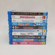 Blu-Ray Movies Bulk Lot of 10 Grease Bridesmaids Hunger Games Pitch Perfect etc