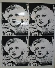 "Vintage Jean Harlow ""Harlow Bombshell"" Screen Print Poster Old Hollywood MGM"
