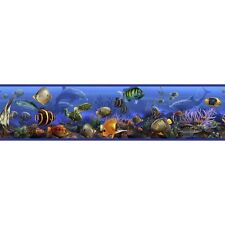 TROPICAL FISH WALLPAPER BORDER Under Sea Ocean Peel & Stick Bathroom Wall Decals