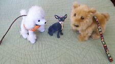 AMERICAN GIRL JULIE'S PET CHIHUAHUA, TERRIER AND POODLE EUC!
